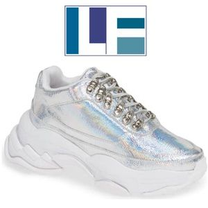 3303378be78 Jeffrey Campbell Hotspot holographic sneakers 7.5